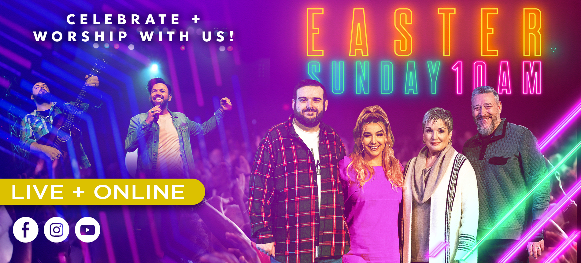 Celebrate + Worship with Us! Easter Sunday 10 Am Live